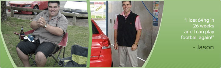 Jason lost 64kg in 26 weeks